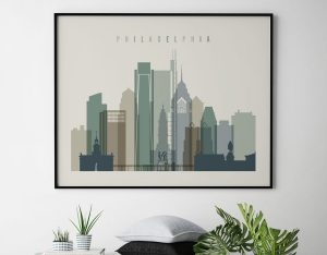 Philadelphia wall art landscape earth tones 1 second