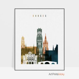 Bruges poster watercolor 3