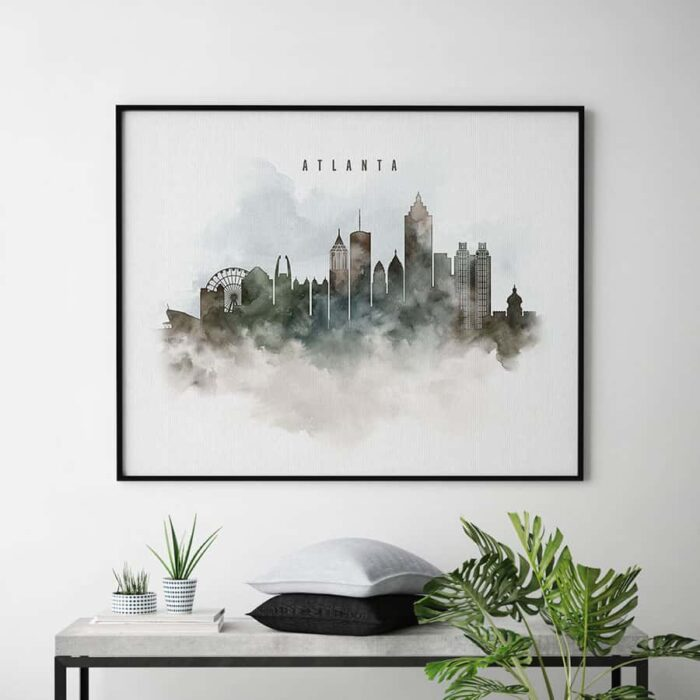 Atlanta cityscape print watercolor second