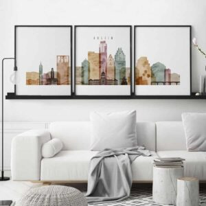Austin 3 piece wall art watercolor 1 second
