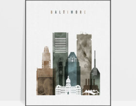 Baltimore art print watercolor 2
