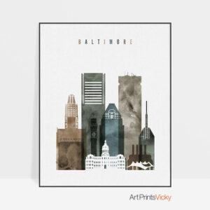 Baltimore art print watercolor 2