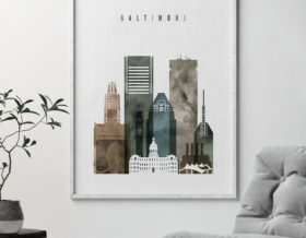 Baltimore art print watercolor 2 second