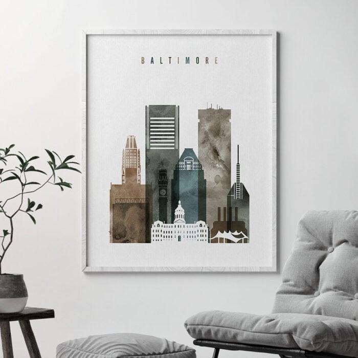 Baltimore art print watercolor 2 second