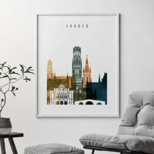 Bruges poster watercolor 3 second