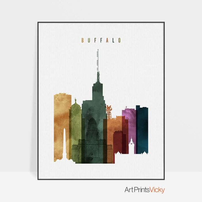Buffalo poster watercolor 3