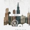Chicago map watercolor 2 detail