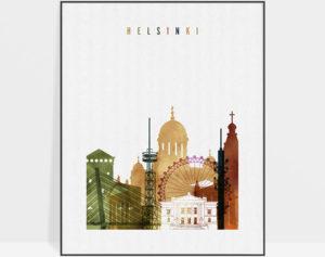 Helsinki poster watercolor 3