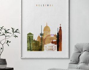 Helsinki poster watercolor 3 second