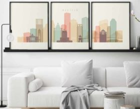 Houston set of 3 prints pastel cream second