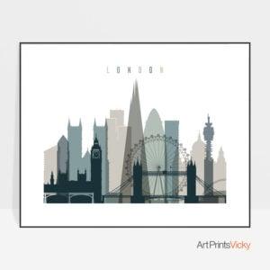 London poster landscape earth tones 4
