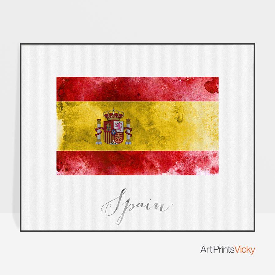 Spain flag poster