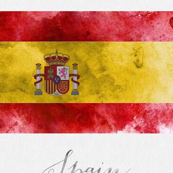 Spain flag poster detail