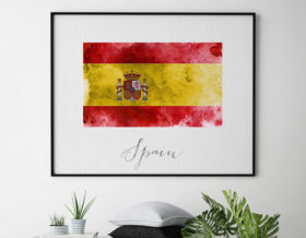 Spain flag poster second