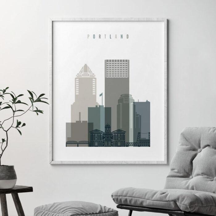 Portland art print earth tones 4 second