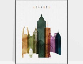 Atlanta poster watercolor 3