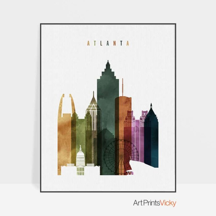 Atlanta poster watercolor 3
