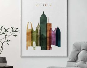 Atlanta poster watercolor 3 second
