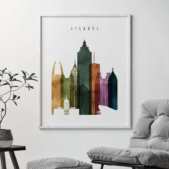 Atlanta poster watercolor 3 second