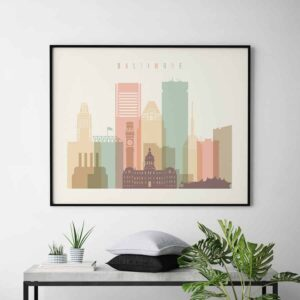 Baltimore skyline poster landscape second