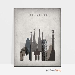 Barcelona poster retro