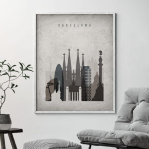 Barcelona poster retro second