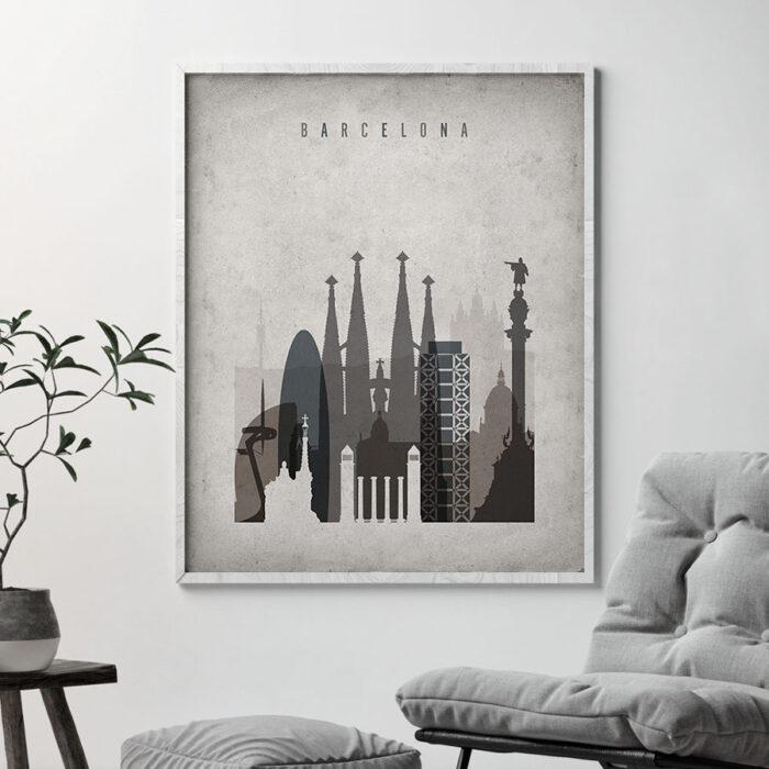 Barcelona poster retro second