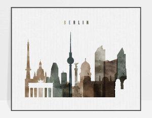 Berlin poster landscape watercolor 2