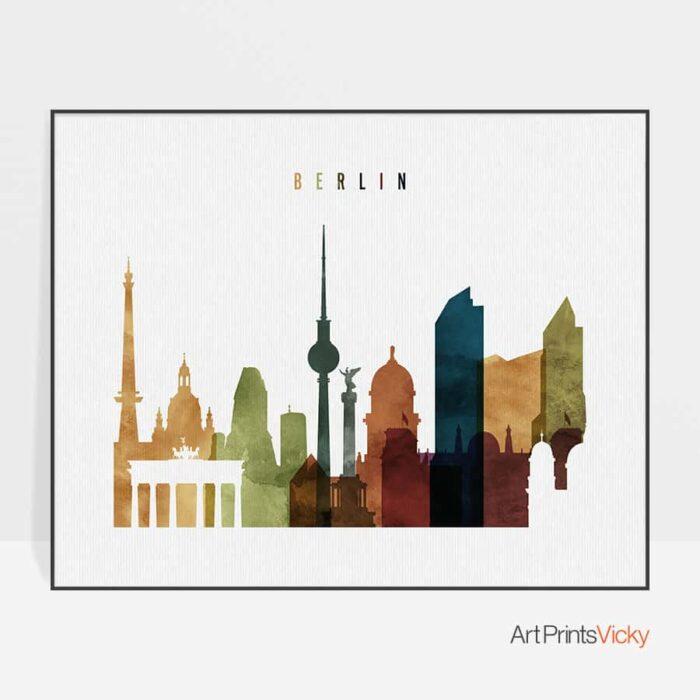 Berlin poster landscape watercolor 3