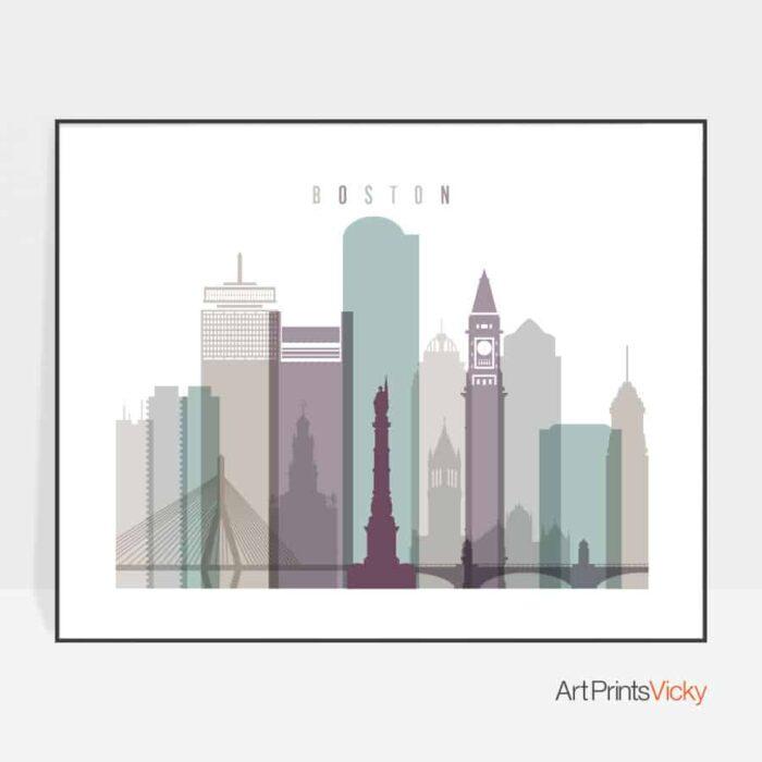Boston poster landscape pastel 2