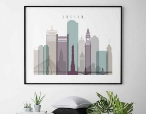Boston poster landscape pastel 2 second