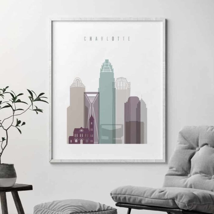 Charlotte skyline pastel 2 second