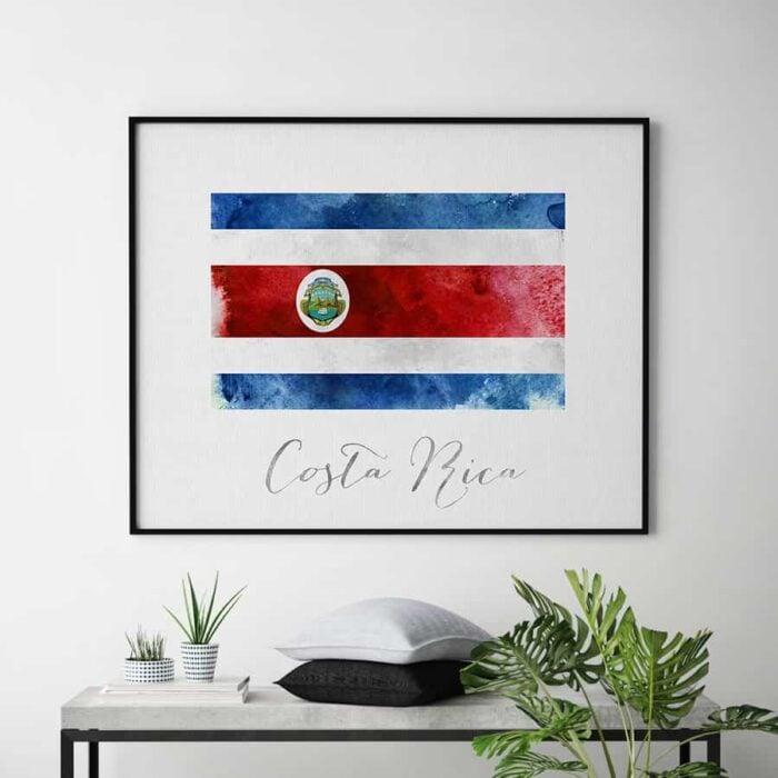 Costa rica flag print second