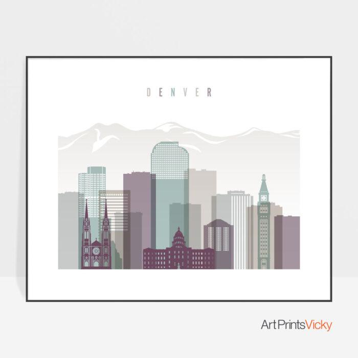 Denver poster landscape pastel 2