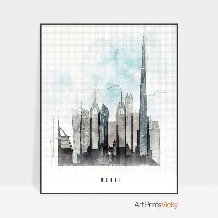 Dubai poster urban