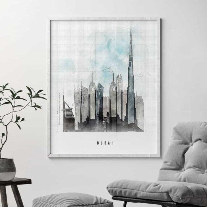 Dubai poster urban second