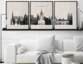 Edinburgh 3 prints set distressed 2 second