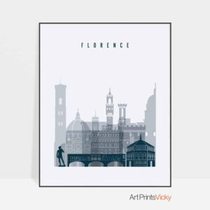Florence poster grey blue