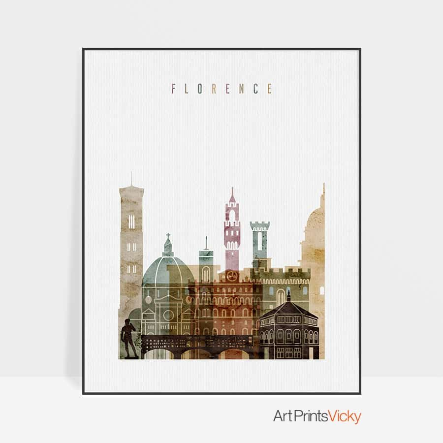 Florence poster watercolor 1