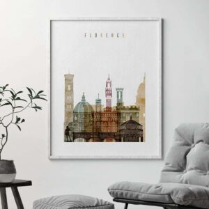 Florence poster watercolor 1 second