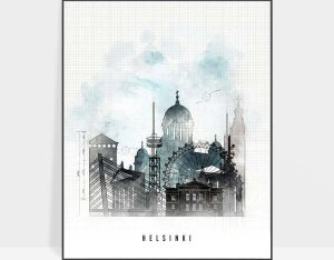 Helsinki poster urban