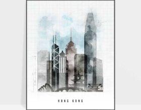Hong Kong poster urban