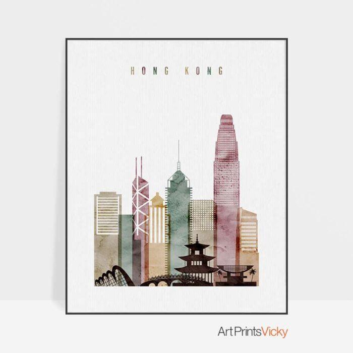 Hong Kong poster watercolor 1