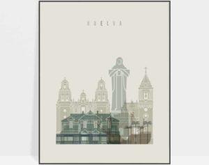 Huelva poster earth tones 1
