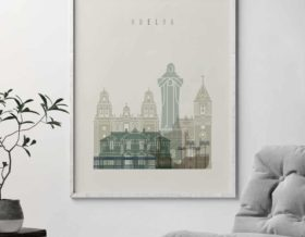 Huelva poster earth tones 1 second