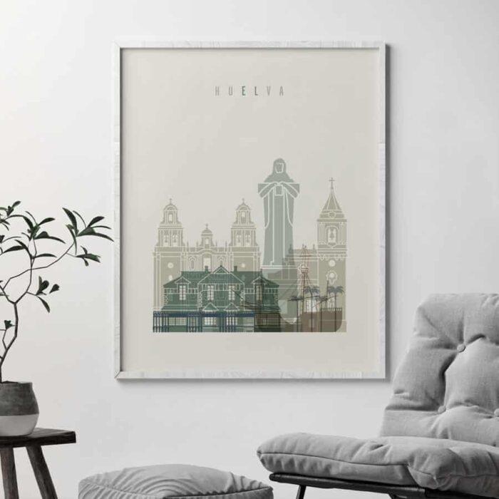 Huelva poster earth tones 1 second