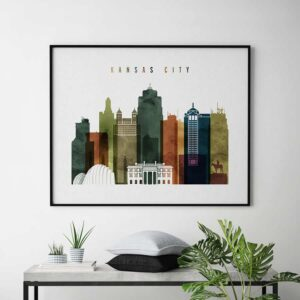 Kansas City poster landscape watercolor 3 second