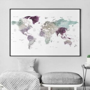 Large world map poster second