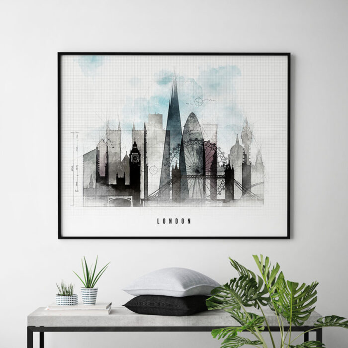 London skyline landscape urban second