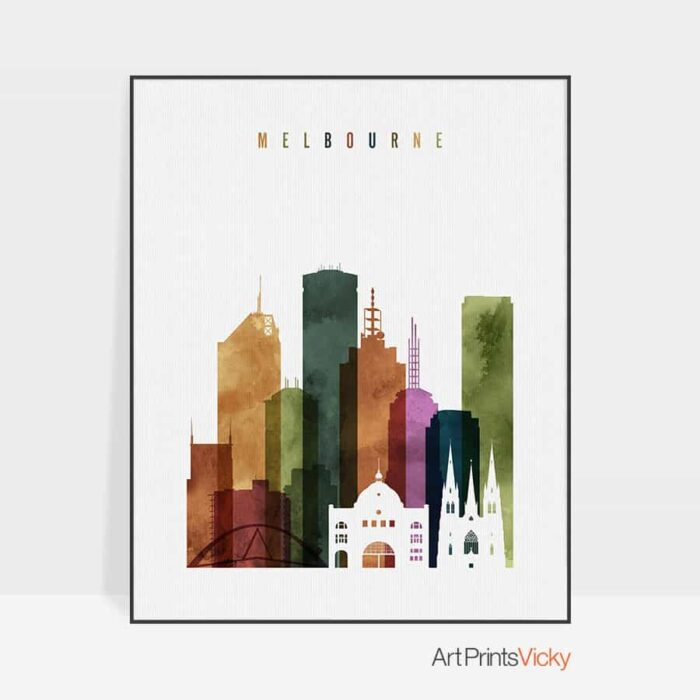 Melbourne poster watercolor 3